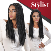 The Stylist Synthetic Braided Lace Front Wig Baby Hair Line Box Braid