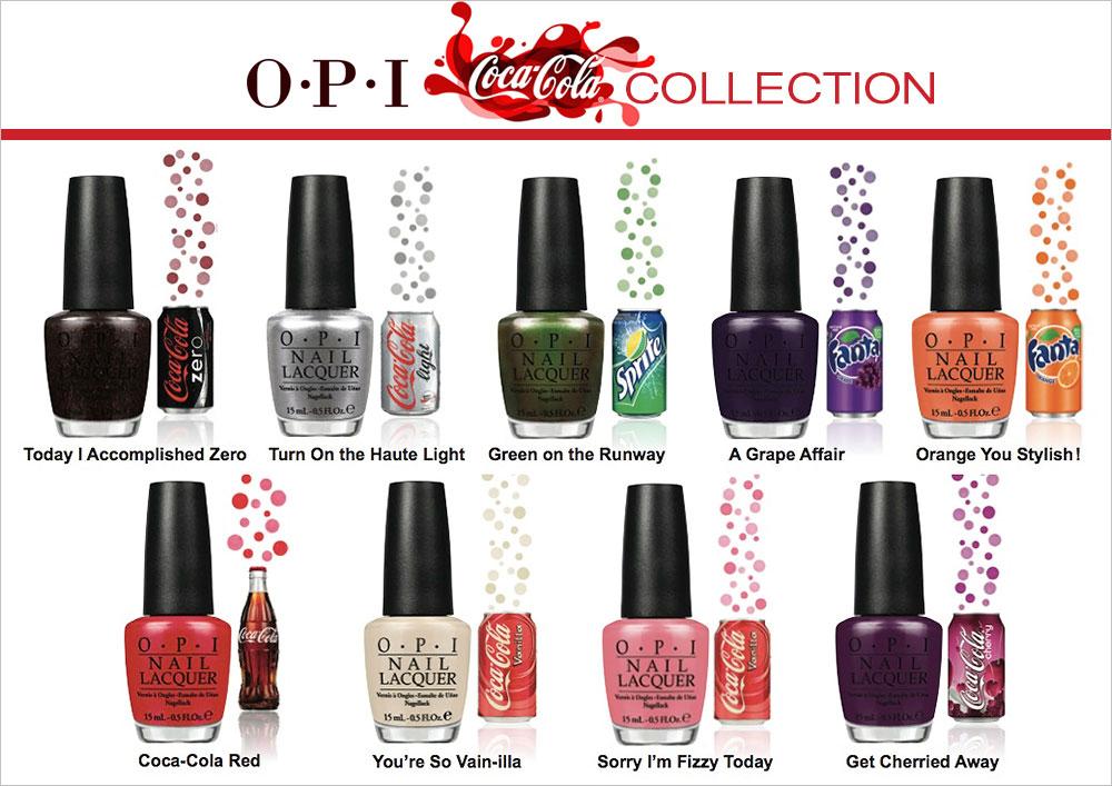 Opi Coca Cola Nail Lacquer Collection