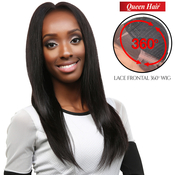 Queen Hair Unprocessed Brazilian Virgin Remy Human Hair Lace Front Wig 360 Wig Straight 24 XL