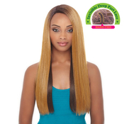 Janet Collection Synthetic Lace Front Wig Natural Super Flow Invisible Deep Part Lace Bisa