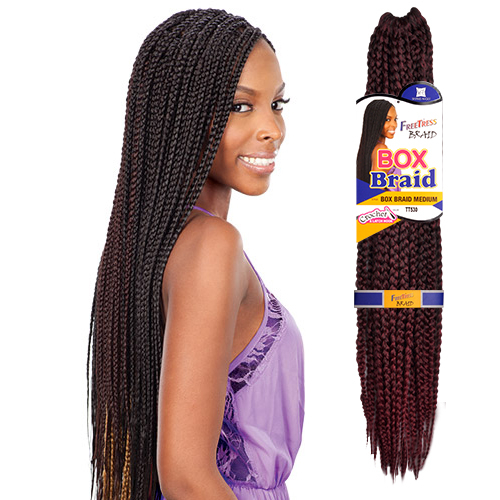 FreeTress Synthetic Hair Crochet Braid Medium Box Braids 20 ...