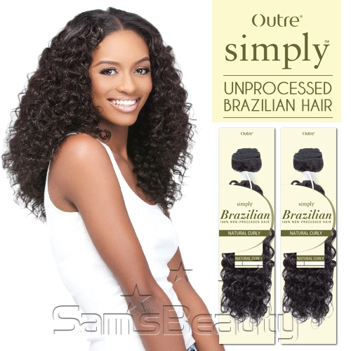 Outre simply non processed brazilian human hair weave natural hair color show natural brown pmusecretfo Images