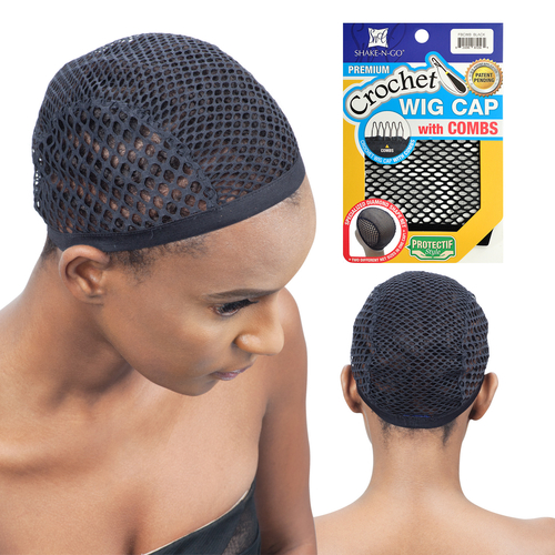 Crochet Hair On Net Cap : FreeTress Premium Crochet Wig Cap With Combs - SamsBeauty