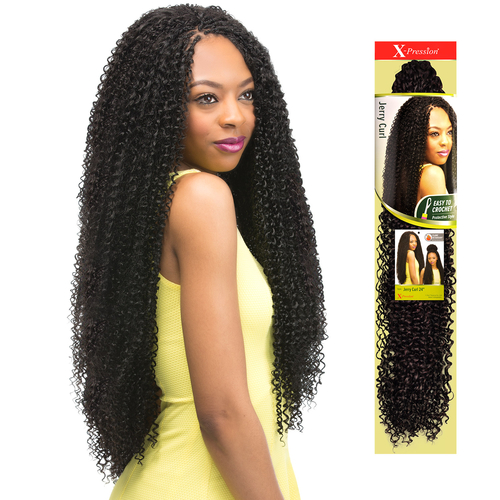 Outre Synthetic Hair Crochet Braids X-Pression Braid Jerry Curl 24 ...