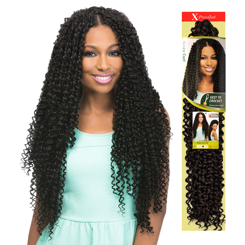 Outre Synthetic Hair Crochet Braids X-Pression Braid Kinky Curl 24 ...