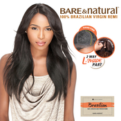 Sensationnel Unprocessed Brazilian Remy Human Hair lace Wig Bare AMP; Natural LPart Natural Straight