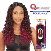 Milky Way Que Human Hair Blend Weave Fourbulous Radiance Lace Invisible Part 20 Vintage Curl 4Pcs