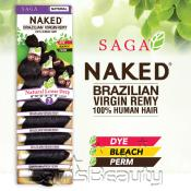 SAGA Naked Unprocessed Brazilian Virgin Remy Human Hair Weave Natural Loose Deep 7Pcs