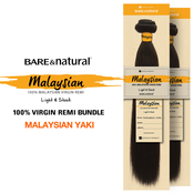 Sensationnel Unprocessed Malaysian Virgin Remy Human Hair Weave Bare AMP; Natural Malaysian Yaki