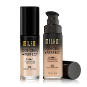 MILANI Conceal AMP; Perfection 2 in 1 Foundation AMP; Concealer