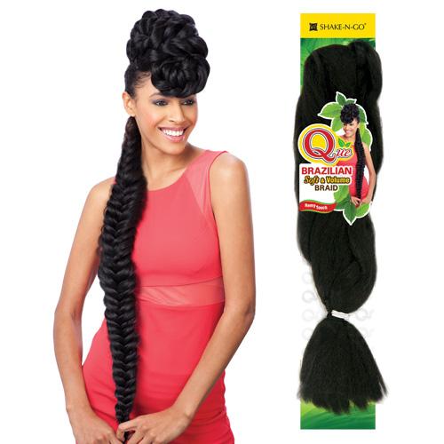 Wondrous Milkyway Que Synthetic Kanekalon Braids Brazilian Softampvolume Hairstyles For Women Draintrainus