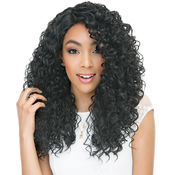Janet Collection Human Hair Blend Wig Brazilian Scent Lace Rain