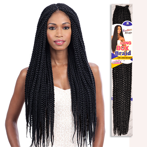 FreeTress Synthetic Hair Crochet Braids Long Large Box Braid 24 ...