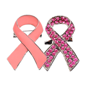 Breast Cancer Awareness Ribbon Brooches