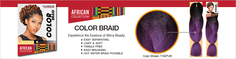 Sensationnel Synthetic Hair Braids African Collection Color Braid ...