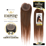 Sensationnel Human Hair Weave Empire 2X2 Crown Closure Yaki 12
