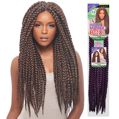 ... Collection Synthetic Hair Crochet Braids 3S Havana Mambo Box Braid 24