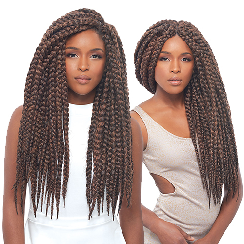 Janet Collection Synthetic Hair Crochet Braids 3S Havana Mambo Box ...