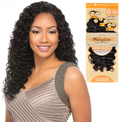 Sensationnel Unprocessed Malaysian Virgin Remy Human Hair Weave Bare AMP; Natural Euro Deep 6Pcs Free Closure