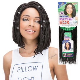 Janet Collection Synthetic Hair Crochet Braids 3S Havana Box Braid 12""