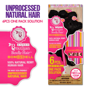 Janet Unprocessed Brazilian Virgin Remy Human Hair Weave Bombshell Natural Body Wave 6 Pcs 9101112 Free Top Closure