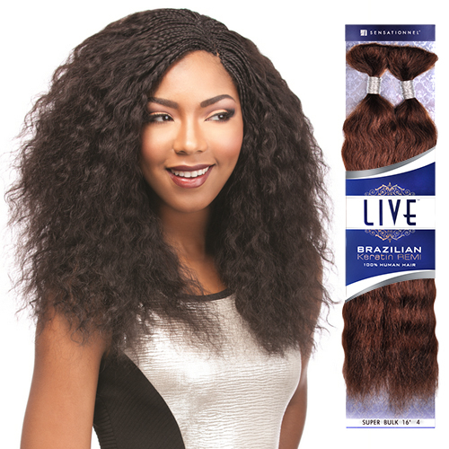Sensationnel Remy Human Hair Braids Live Brazilian Keratin Remi Wet Wavy Super Bulk