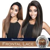 ISIS Human Hair Blend Lace Front Wig Brown Sugar 13X4 Frontal Lace BSF05