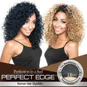 ISIS Human Hair Blend Half Wig Natural Seamless Hairline Perfect Edge BSP05