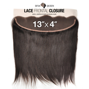 Diva Queen 100 Virgin Human Hair Unprocessed Brazilian Weave 13x4 Lace Frontal Closure Natural Straight