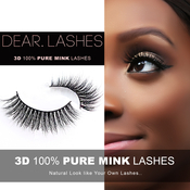 Dear Lashes 3D 100 Pure Mink Eyelashes