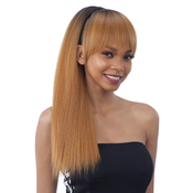 ModelModel Synthetic Hair Ponytail AMP; Blunt Bang Yaky Straight 2Pcs