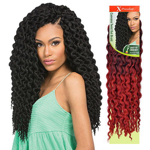 Curly Crochet Braids With Xpression Hair : Outre Synthetic Hair Crochet Braids X-Pression Braid Cuevana Twist Out ...