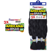 FreeTress Synthetic Hair Crochet Braids 3X Africana Braid 84