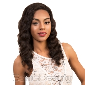 Queen Hair Unprocessed Brazilian Virgin Remy Human Hair Lace Front Wig Ocean 18
