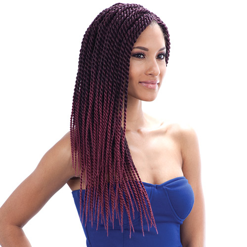 FreeTress Synthetic Hair Crochet Braid Single Twist Large - SamsBeauty