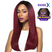 Outre Synthetic Hair Lace Front Wig 4x4 Lace Swiss X Risa