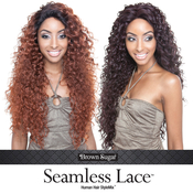 ISIS Human Hair Blend Lace Front Wig Brown Sugar Seamless Lace BS503 Tahiti