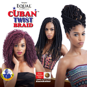 Freetress Equal Synthetic Hair Braids Double Strand Style Havana Twist Cuban Twist Braid 12