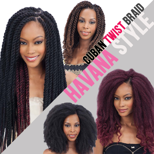 Equal Synthetic Hair Braids Double Strand Style (Havana Twist) Cuban ...
