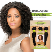 Sensationnel Unprocessed Peruvian Virgin Remy Human Hair Weave Bare AMP; Natural French Twist 10S 3Pcs