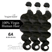 Vogue Hair 100 Virgin Human Hair Brazilian Bundle Hair Weave 6A Natural Body 3 Lot  285g