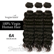 Vogue Hair 100 Virgin Human Hair Brazilian Bundle Hair Weave 6A Natural Loose Deep 3 Lot  285g
