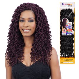 FreeTress Synthetic Hair Crochet Braids 2X Soft Faux Loc Curly 12