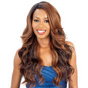 ModelModel Synthetic Lace Front Wig Peruvian Natural Collection Deep Invisible L Part Wig Alpine Meadow