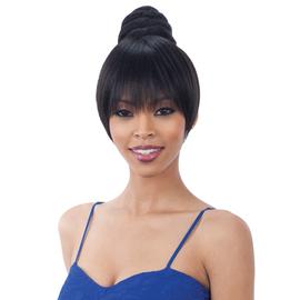 Freetress Equal Synthetic Hair Bun Bang Swirl Bun Dome Bang 2pcs