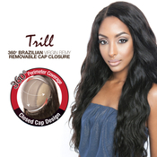Trill Brazilian Virgin Remy Human Hair Weave 360 Frontal Lace Closure Removable Cap Body Wave 14