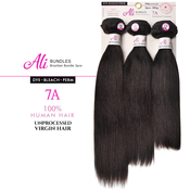 Ali Bundles Unprocessed Brazilian Virgin Human Hair Weave Straight 3Pcs