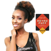 Instant Glitz Synthetic Drawstring Ponytail Retro Puff Medium