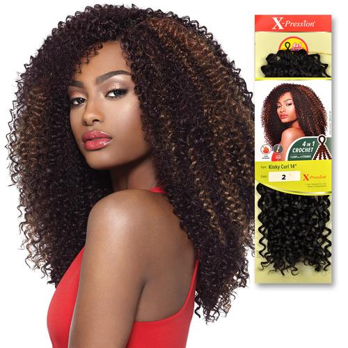 Crochet Braids Xpression Kinky Curly : ... Hair Crochet Braids X-Pression Braid 4 In 1 Loop Kinky Curl 14