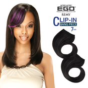 Model Model Remy Human Hair Weave EGO ClipIn Bang Piece 7